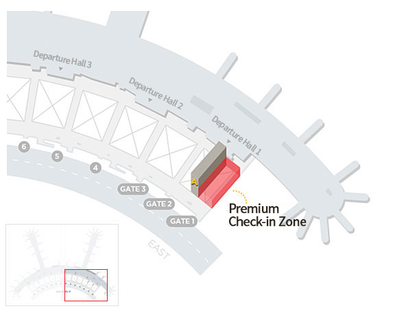 3rd Floor Departure Hall, Terminal 1