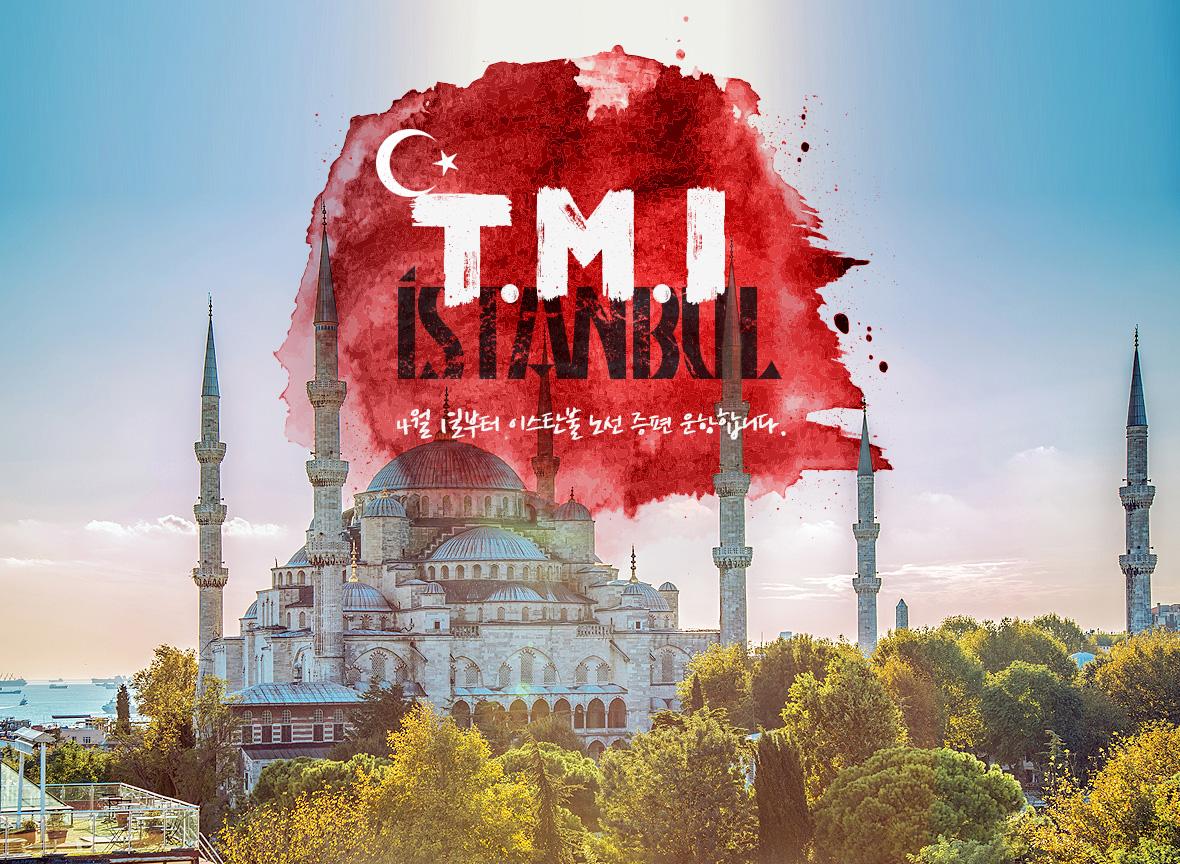 4월 1일부터 이스탄불 노선 증편  운항합니다. T.M.I Istanbul
